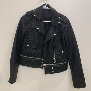 BLANK NYC Faux Leather Jacket with Zippers